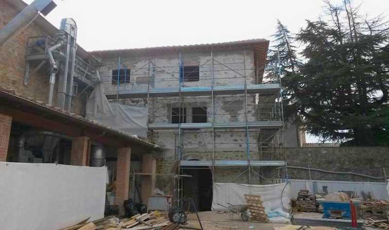 domotica applicata Rocca di Sant Apollinare il cantiere