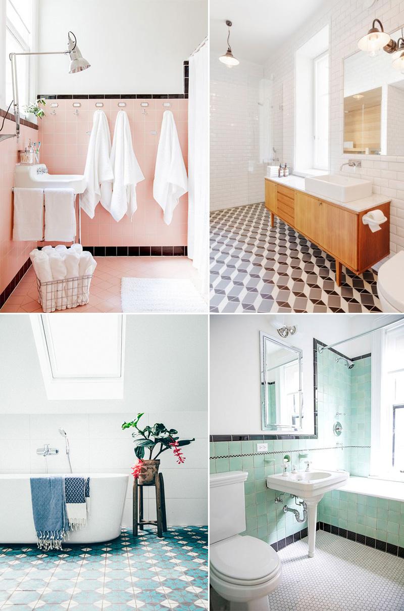 Piastrelle bagno il ritorno degli anni 39 60 aziende e prodotti - Stuccare piastrelle bagno ...