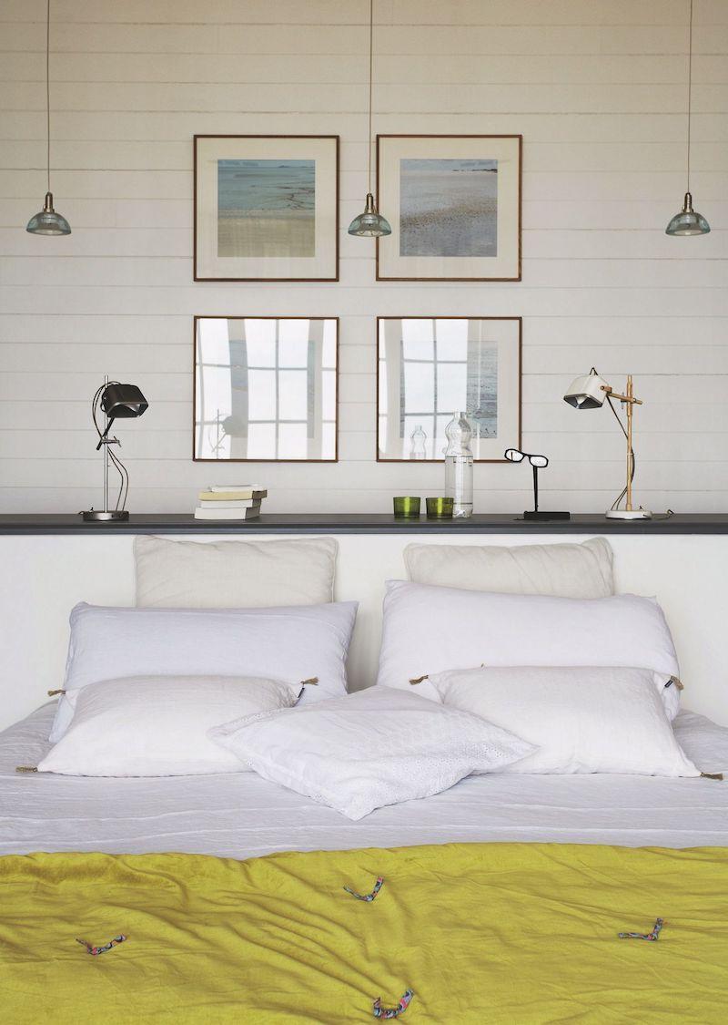 villa con vista mare in Bretagna camera da letto