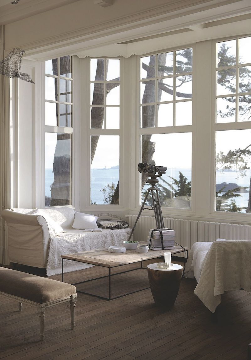villa con vista mare in Bretagna bow window