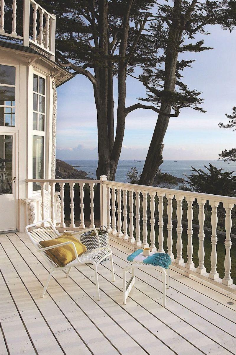 villa con vista mare in Bretagna terrazza