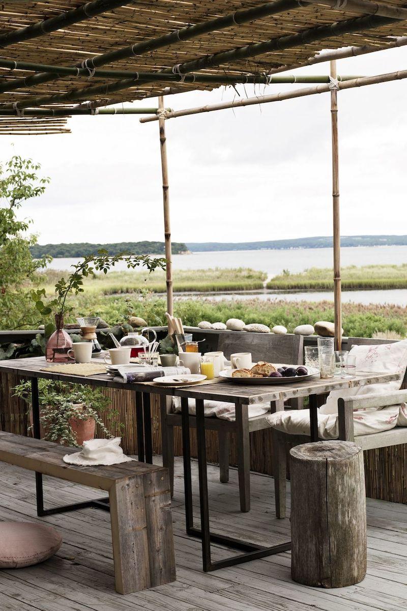 chalet scandinavo agli Hamptons terrazza