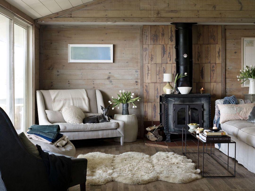 chalet scandinavo agli Hamptons soggiorno