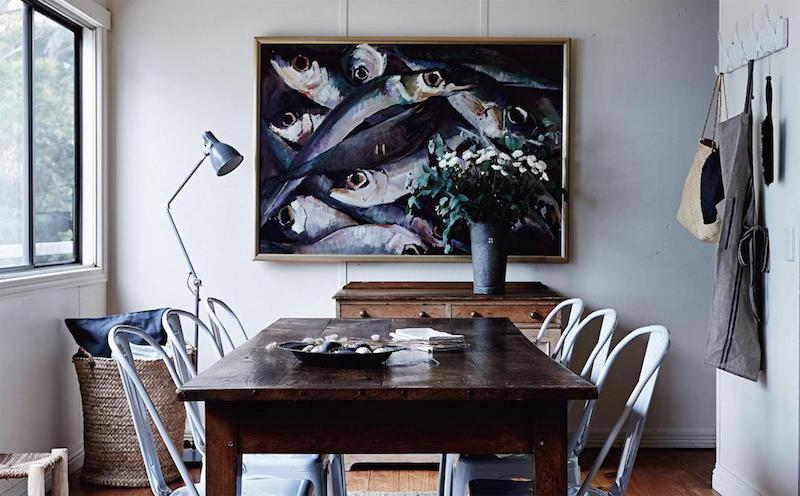 cottage in Tasmania sala da pranzo