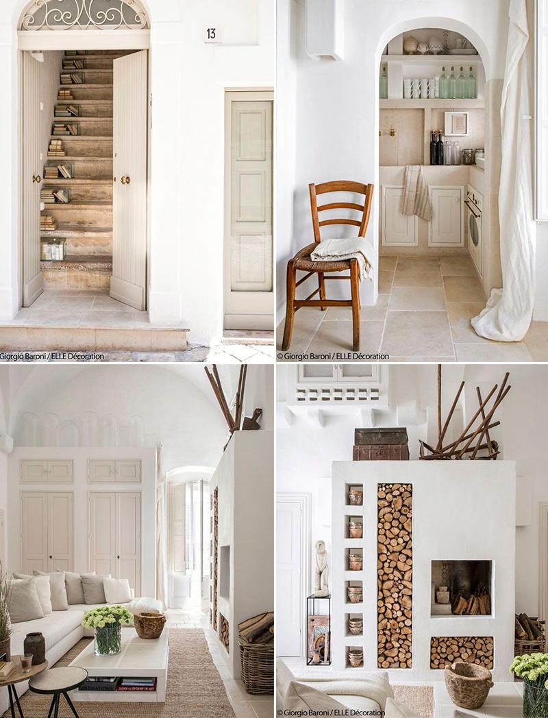 una casa tutta bianca in puglia interno