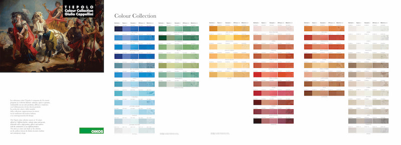 Oikos Tiepolo Colour Collection palette