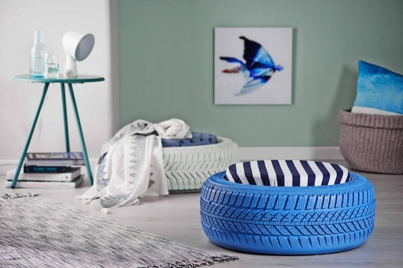 Decorazioni dettagli per abbellire la vostra casa pouf pneumatici
