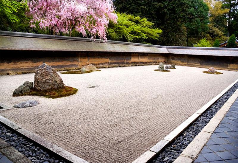 Giardino-giapponese secco Karesansui detto zen