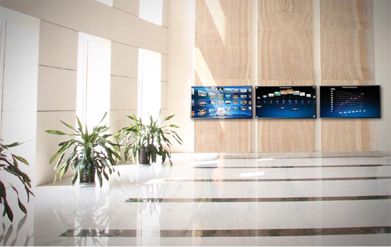Mobili-reception-ufficio bancone videowall