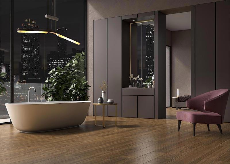 Cersaie 2018 novita rivestimenti e bagno gres porcellanato effetto legno