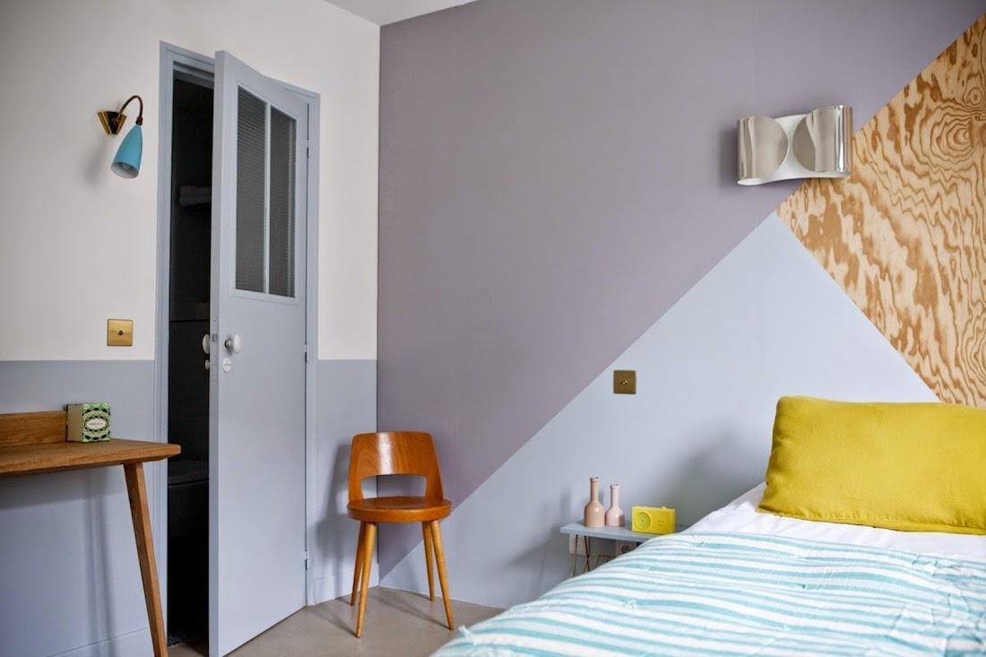dipingere le pareti con il color blocking la gatta sul tetto