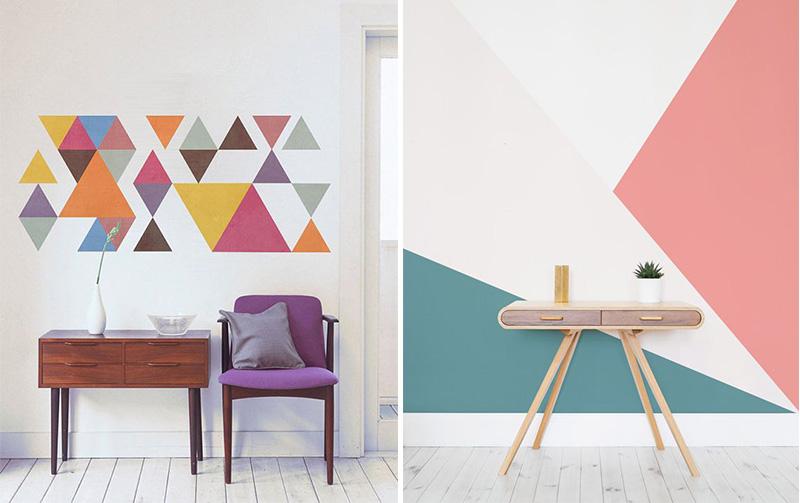Dipingere le pareti con il color blocking policromatico