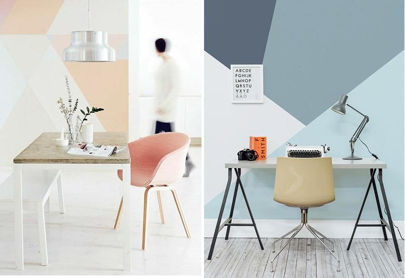 Dipingere le pareti con il color blocking tono su tono