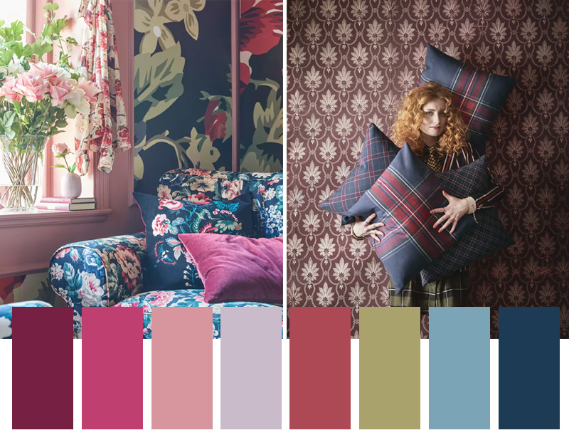 autunno secondo Ikea colori e materiali fiori scozzese