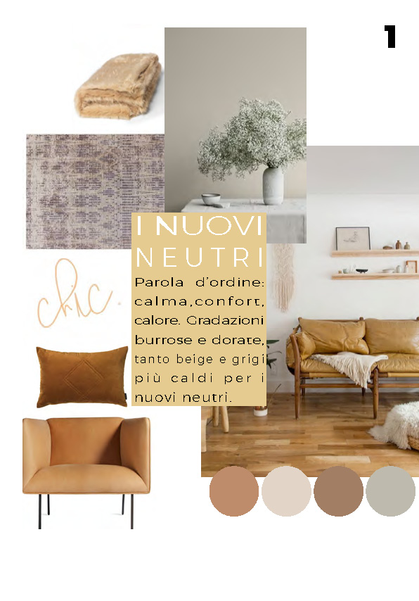 INTERIOR TRENDS 2019 colori neutri