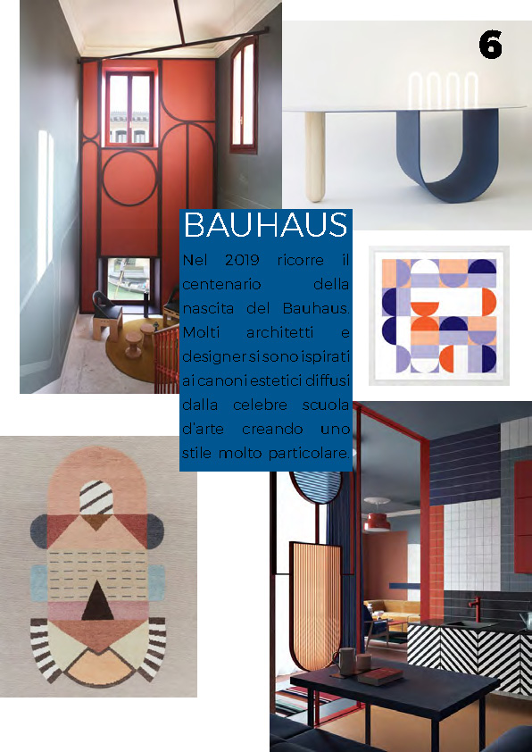 INTERIOR TRENDS 2019 bauhaus