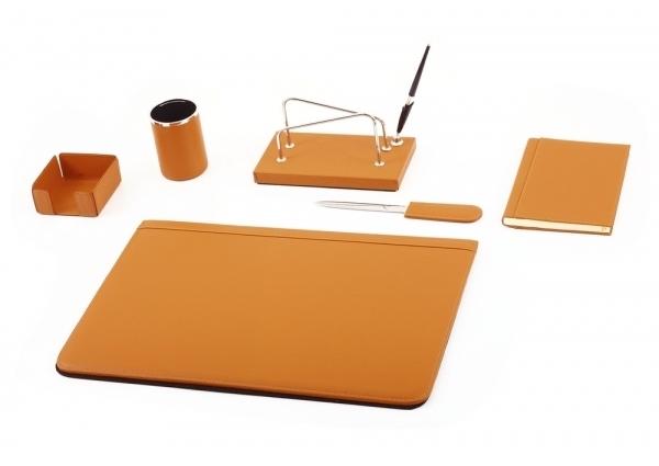 Set da scrivania in pelle moderno maruse pelletteria