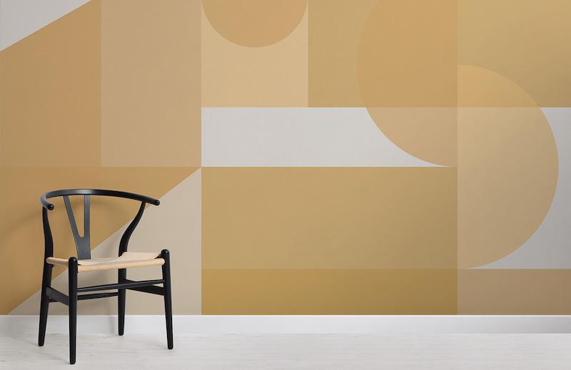 Nuova collezione di Murals Wallpapers per il Centenario del Bauhaus gialla