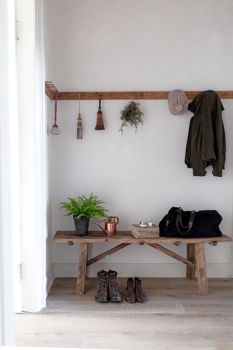 Kinfolk style a casa di Nina Plummer ingresso