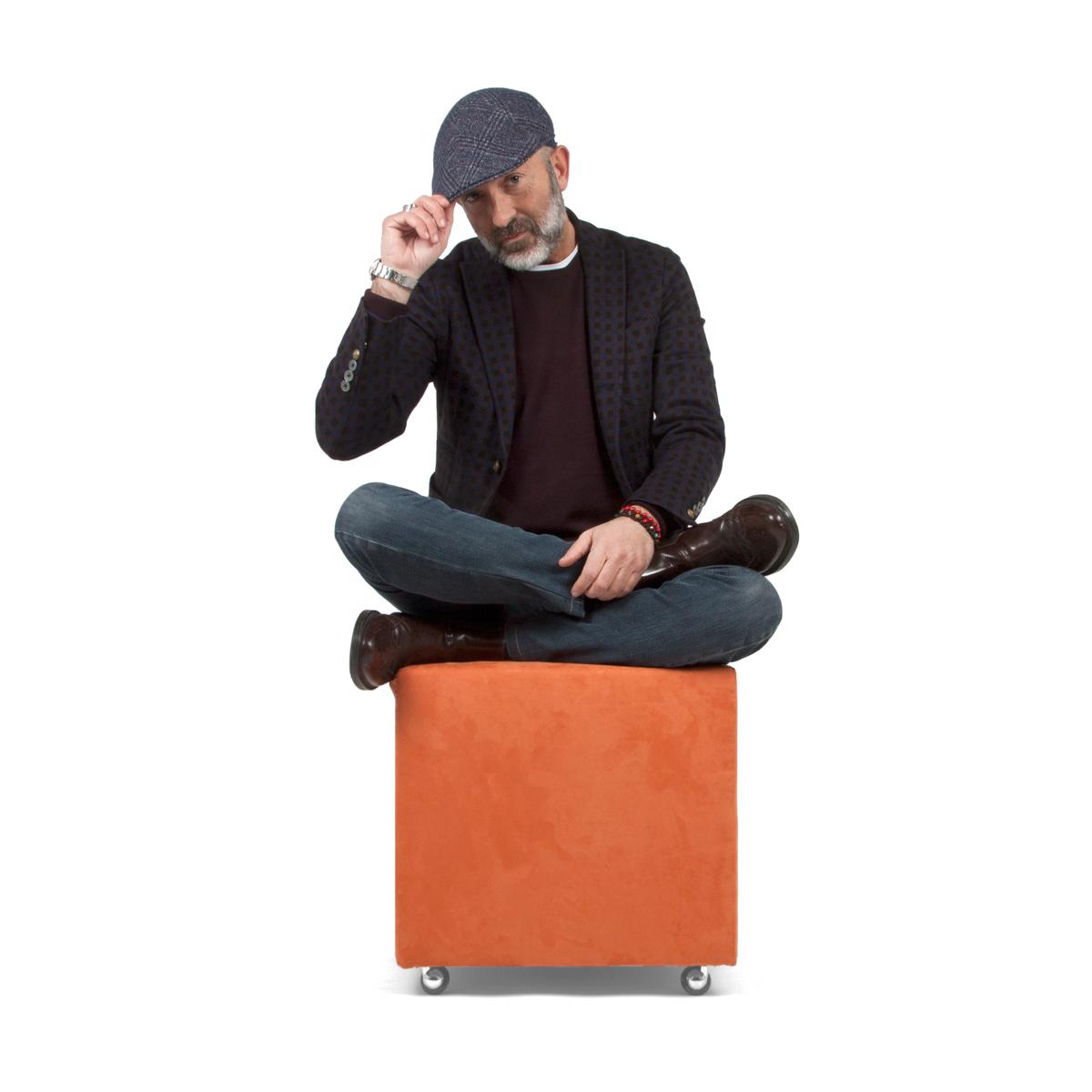 Arredare un piccolo terrazzo: i mobili giusti pouf rotelle Arketicom