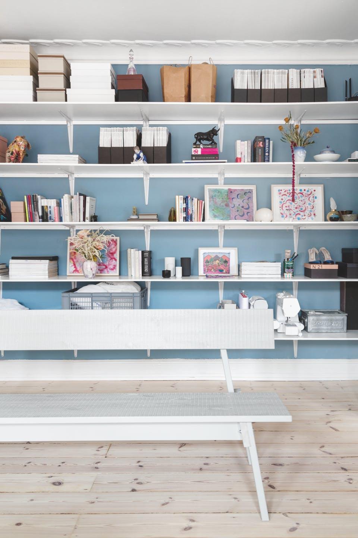 Delicata palette di blu per una casa danese