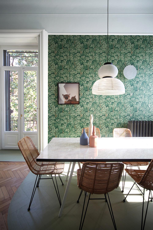 Delicati accordi di colore in un appartamento milanese Marcante Testa
