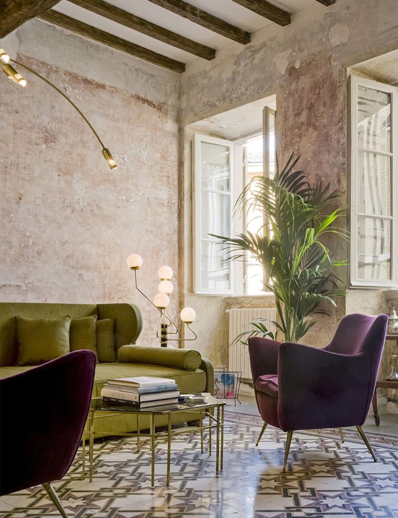 Un hotel contemporary shabby chic a Roma