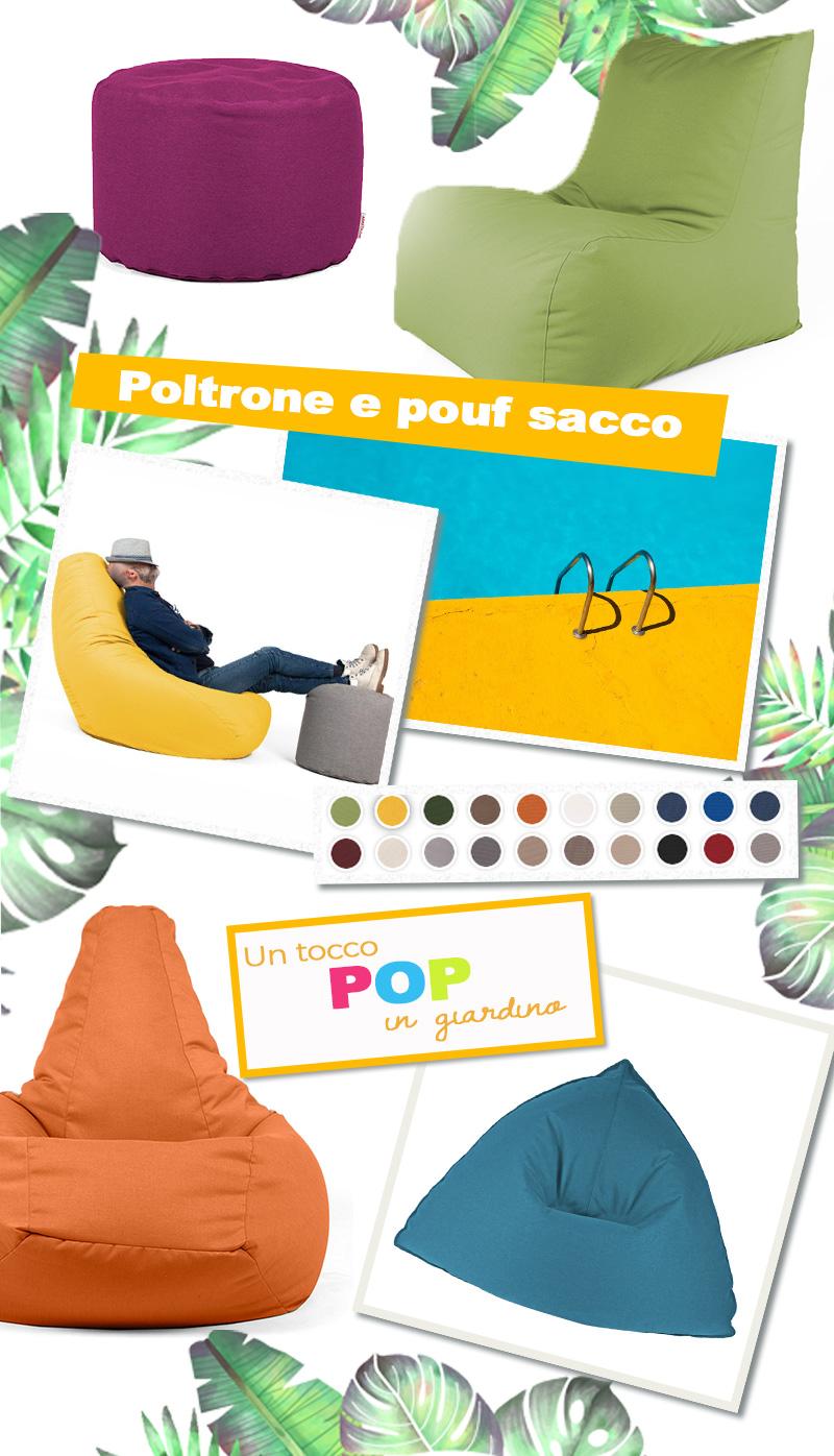 Pouf Poltrone Sacco Design.Poltrona Sacco 5 Modelli Di Design Per Un Tocco Pop In Giardino