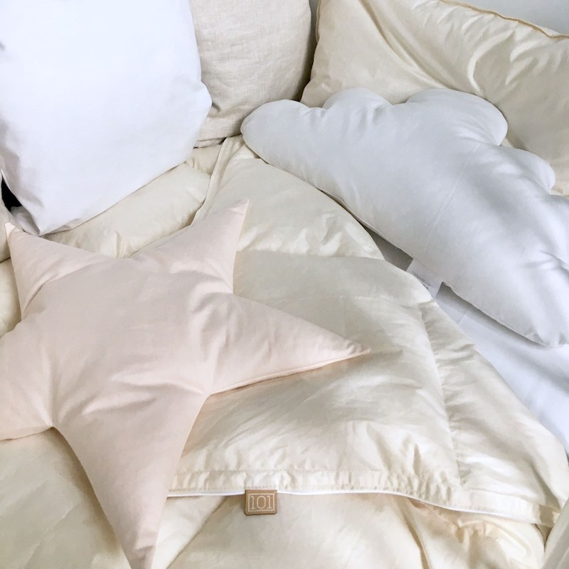 biancheria lettino cuscini cielo Dreamin'101