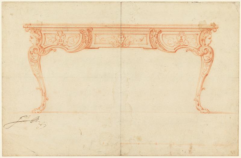 rococò scrivania Disegno a sanguigna Gilles Marie Oppenord